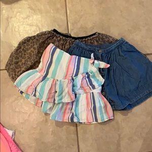 3 girl skirts